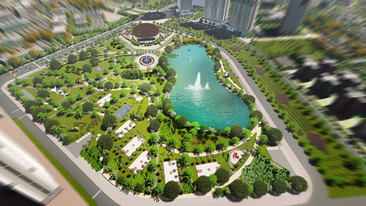 The Matrix One view công viên Nam Từ Liêm