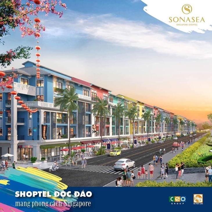 Shophouse doc dao phong cach Singapore