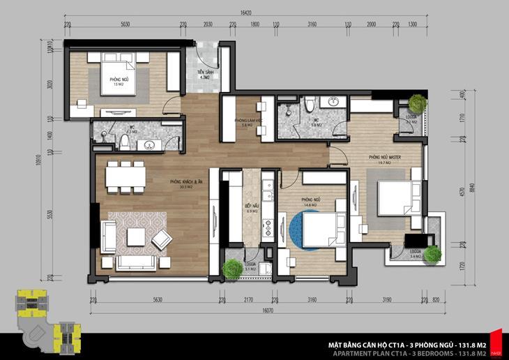 Mặt bằng và thiết kế căn hộ tại Iris Garden