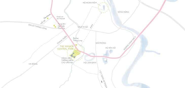Vị trí căn hộ Chung cư The Manor Central Park