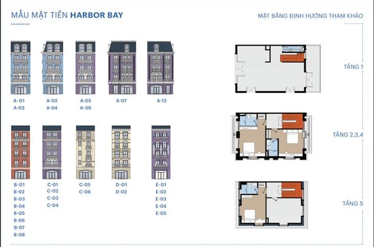 Mặt bằng chi tiết căn hộ dự án Harbor Bay