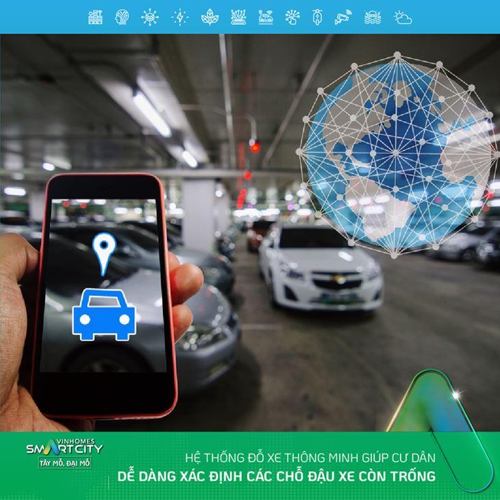 Hệ thống đỗ xe thông minh tại VinHomes Smart City