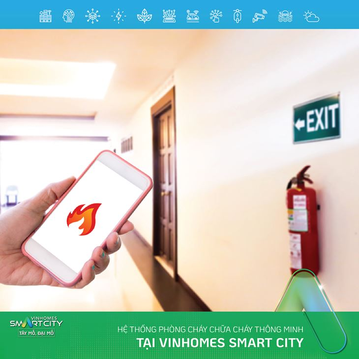 Hệ thống chữa cháy thông minh tại VinHomes Smart City