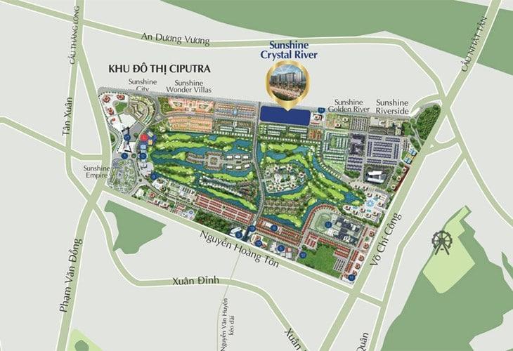Vị trí dự án Chung cư Sunshine Crystal River Ciputra