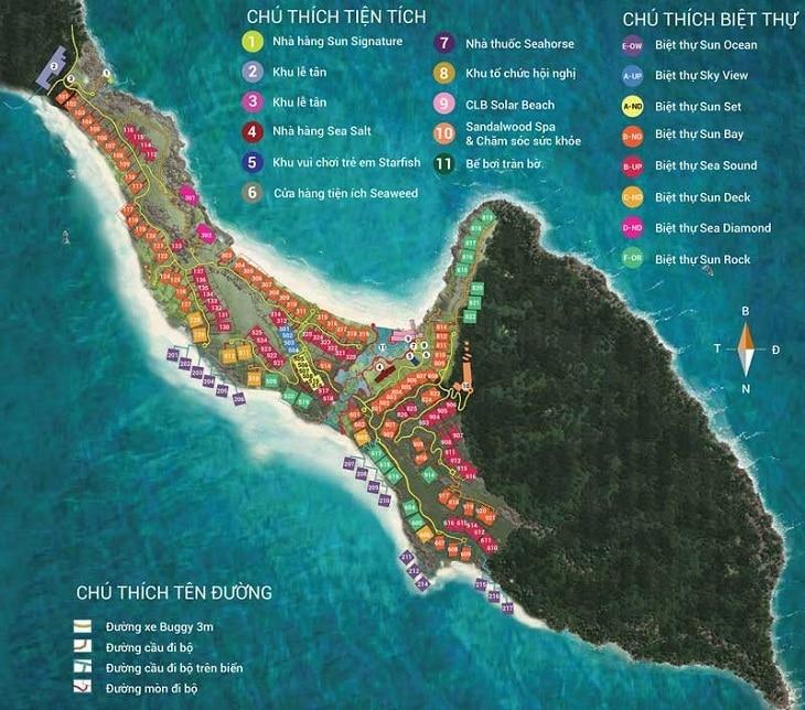 Mặt bằng thiết kế của Sun Premier Village Phú Quốc Resort