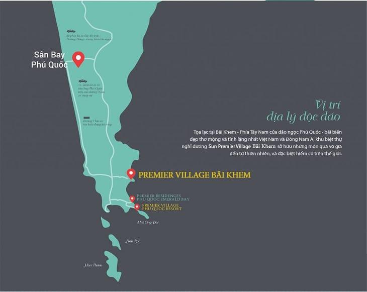 Vị trí Sun Premier Village The Eden Bay Phú Quốc
