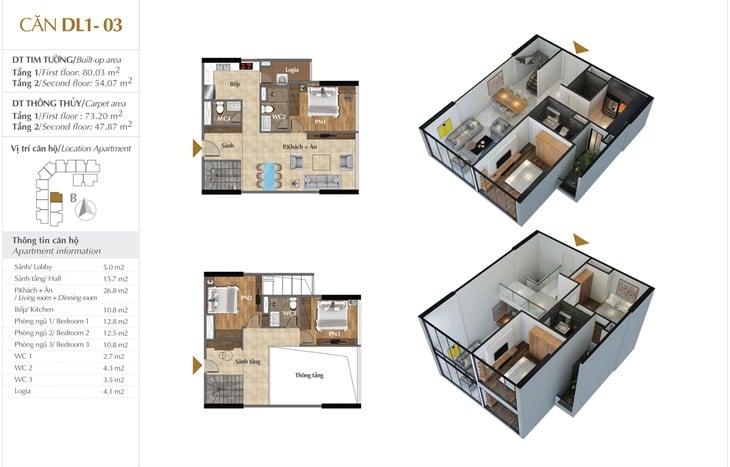 Thiết kế căn hộ Chung cư Sunshine Crystal River Ciputra