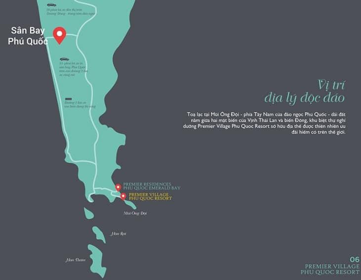Vị trí dự án Sun Premier Village Phu Quoc Resort