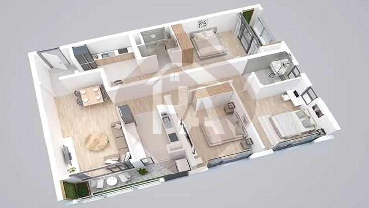 Mô hình căn hộ 2 chìa khóa