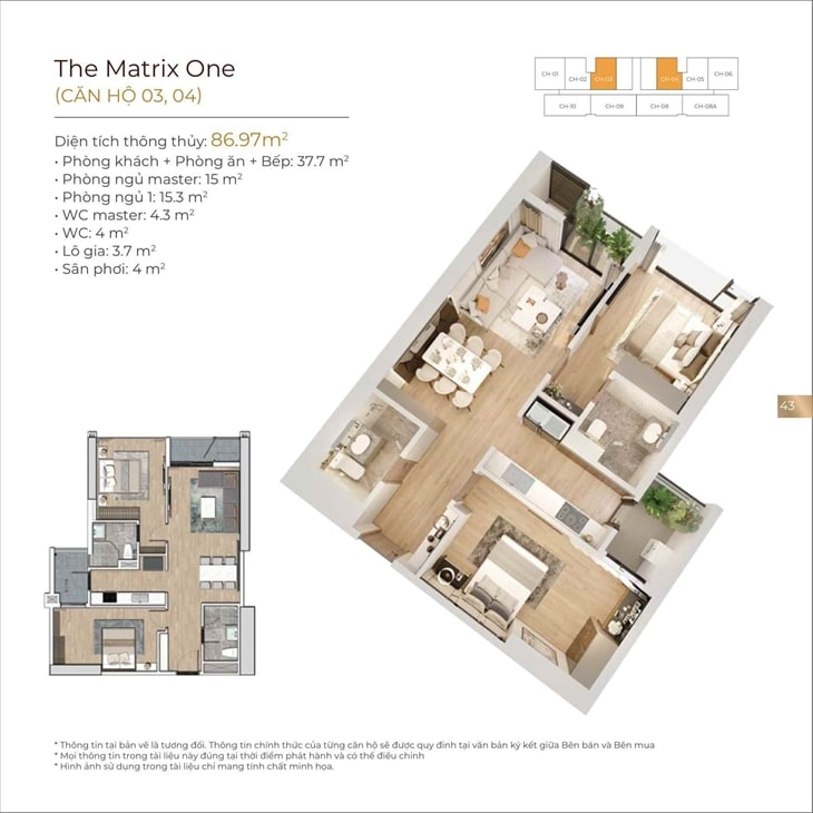 Căn hộ mẫu Dự án The Matrix One