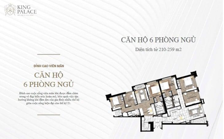 Mặt bằng Chung cư King Palace 108 Nguyễn Trãi 6PN