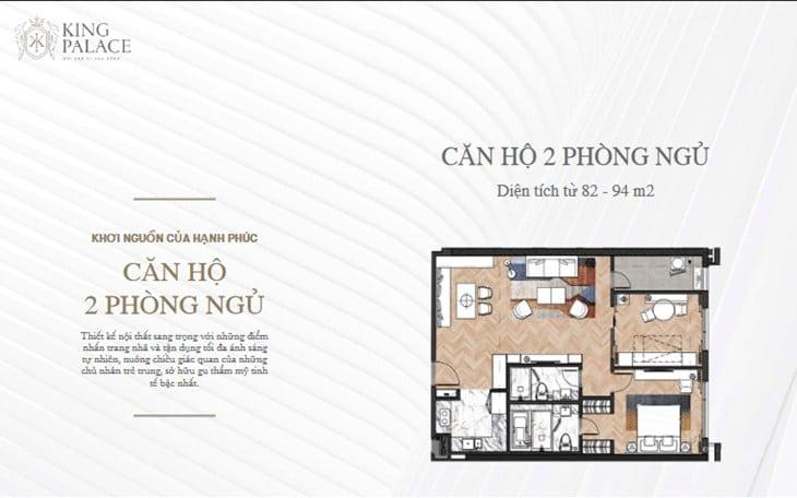 Mặt bằng Chung cư King Palace 108 Nguyễn Trãi 2 PN