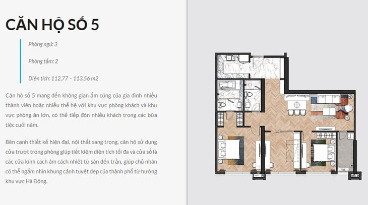 Thiết kế căn hộ Chung cư King Palace 108 Nguyễn Trãi số 5