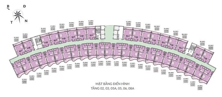 Mặt bằng tổng quan dự án Căn hộ Condotel Movenpick Phú quốc