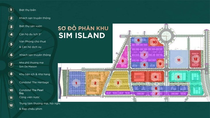Mặt bằng Shophouse Sim Island Phú Quốc 2