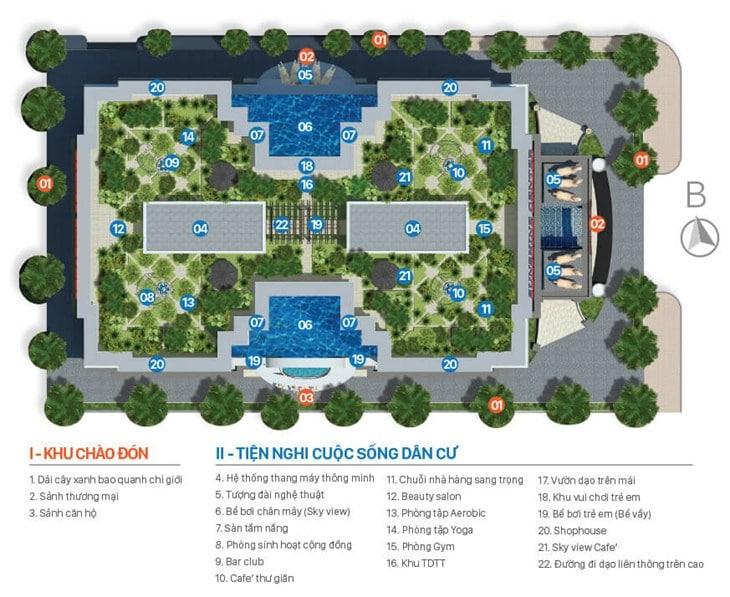 Tiện ích Dự án Chung cư Sunshine center 16 Phạm Hùng