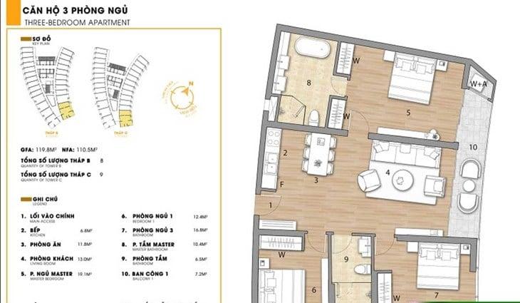 Mặt bằng căn hộ dự án Codotel Ninh Chữ Sailing Bay Ninh Thuận 4
