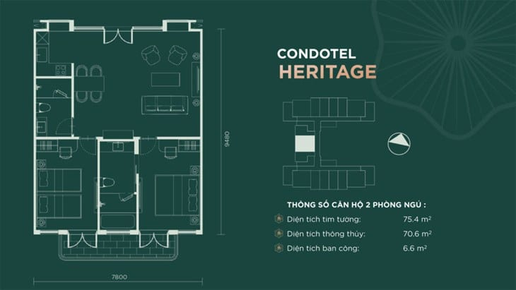Thiết kế căn hộ condotel Sim Island Phú Quốc 6