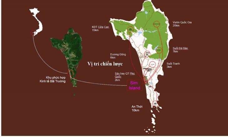 Vị trí chiến lược Dự án Sim Island Phú Quốc