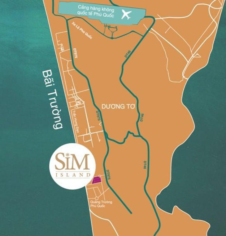 Vị trí Dự án Sim Island Phú Quốc