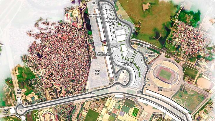 sơ đồ đường đua f1 hà nội