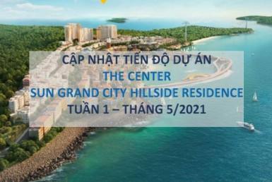 Tiến độ thi công Shophouse The Center Hillside Phú Quốc tháng 05/2021